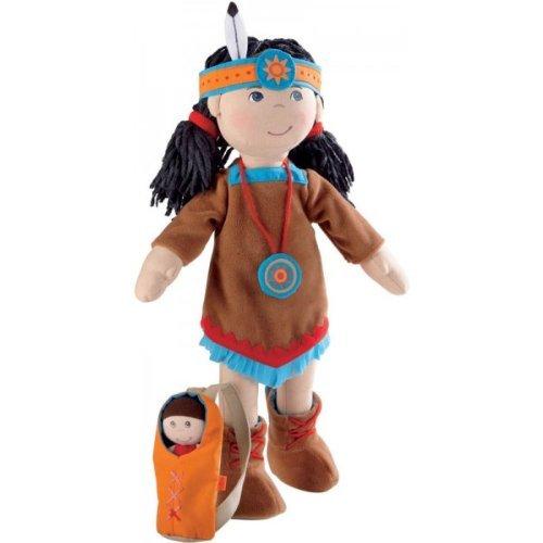 [HABA American Indian Soft Doll Sihu 15
