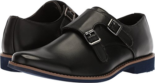 Deer Stags Boys' Harry Monk-Strap Loafer, Black, 3.5 M Medium US Big Kid -