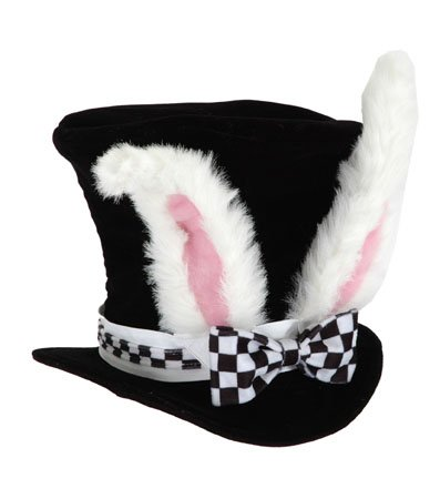 [elope Kid's White Rabbit Topper Hat] (Kids Alice Costumes)
