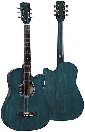 ミニアコースティックギター ギター大人の学生のフォークギターギター38インチ6ナイロン弦ギター初心者の大人 初心者 入門 (Color : B, Size : 38 inch)