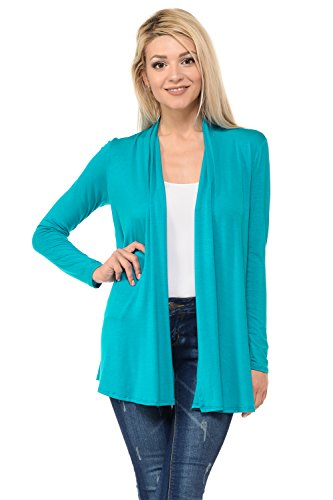 Pastel by Vivienne Women's Long Sleeve Jersey Cardigan Large -