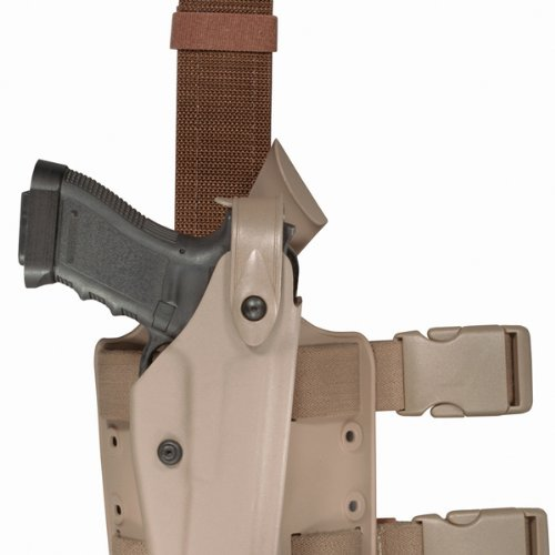 (Safariland 6004 SLS Tactical Holster w/Dbl Leg Straps, Beretta 92, STX Flat Dark Earth, Right)