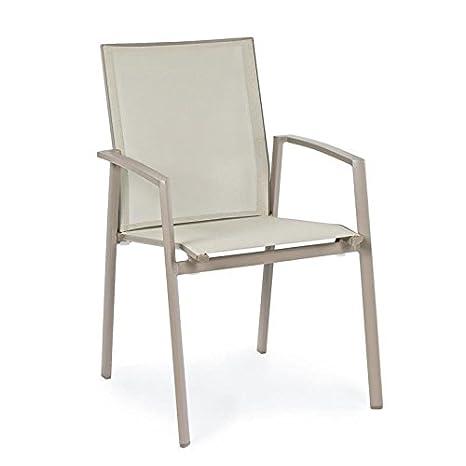 Amazon Sedie Da Giardino In Alluminio.Milo Srl Sedia Sedie Poltrona Per Esterno Da Giardino In