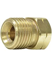 """Uniweld F58L Brass Welding Handle Adaptor""""A"""" to""""B"""" from""""A"""" Connection LH to""""B"""" Hose Nut LH"""
