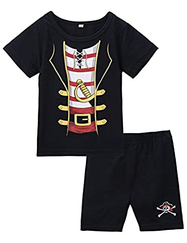 Mombebe Baby Boys' 2 Pieces Pirate Costume Short Set (18-24 Months, Pirate)