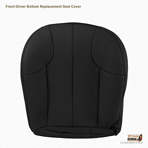 US Auto Nation - Jeep Grand Cherokee Laredo Driver Bottom Leather Seat Cover in Black