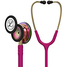 3M Littmann Classic III Monitoring Stethoscope, Rainbow-Finish, Raspberry Tube, 27 inch, 5806