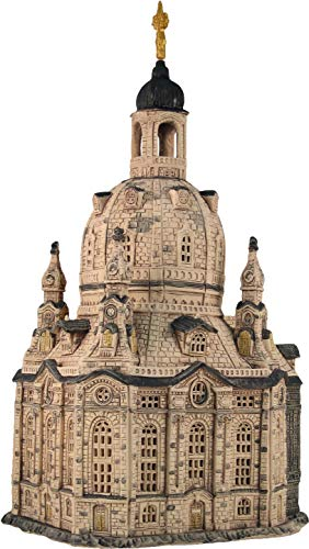 Midene Ceramic House, Candle Holder. Church in Dresden, Germany. Handmade F224N. Large Size