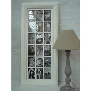 shabby chic large cream multi photo frame kitchen home. Black Bedroom Furniture Sets. Home Design Ideas