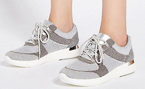 de Mujer Deportes Interior Zapatillas de Lona claro LFEU de gris w60R1nxqq
