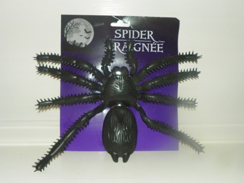 1 X Halloween Giant Plastic Spider Decoration (Decorative Spiders)