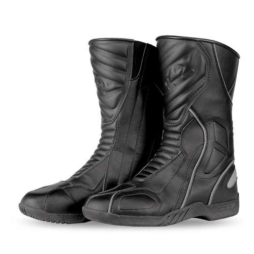 Fly Racing Milepost II Adult Street Motorcycle Boots - Black / Size 11