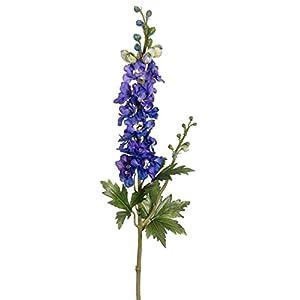 "CC Home Furnishings Pack of 12 Artificial Blue Heliotrope Purple Delphinium Silk Flower Sprays 35"" 6"