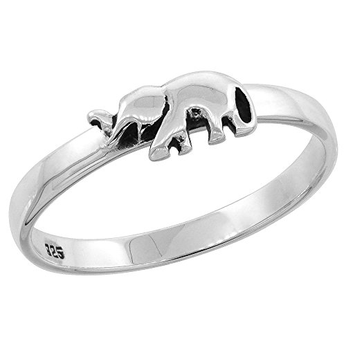 Sterling Silver Stackable Elephant sizes