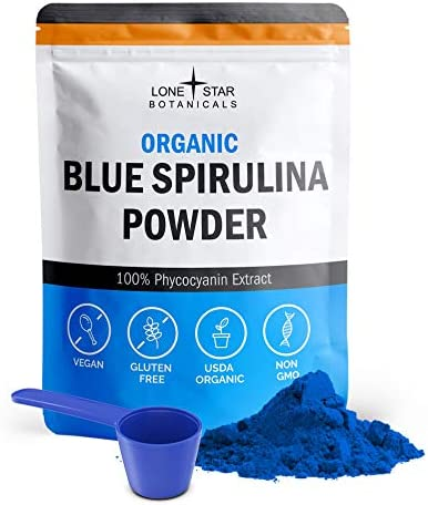 Organic Blue Spirulina Powder - 100% Pure Superfood from Blue-Green Algae, Natural Food Coloring for Smoothies & Protein Drinks - Non GMO, Gluten-Free, Dairy-Free, Vegan + USDA Certified, 30 Servings