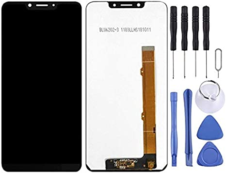 Black Color : Black CAOMING LCD Screen and Digitizer Full Assembly for Alcatel 5V 5060 OT5060 Durable