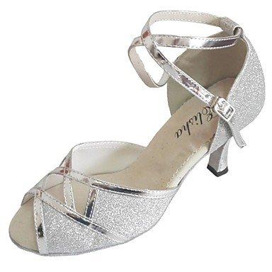 XIAMUO Angepasste Women's Open Toe Latin Sandale angepasst Die Ferse Frauen Salsa Schuhe mehr Farben, Gold, Us2.5/EU 32/UK1/CN 31.