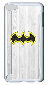 iPod 5 Cases, iPod Touch 5 Cases - Batman Logo White Plastic Bumper Case Hard Back Cover Case for Apple iPod Touch 5/ iPod 5 , 5th Generation