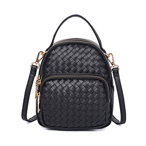 Purse Crossbody for Backpack Vegan Crossbody Braided Cell 7 IPhone Phone S8 6S for Purse Zg Crossbody Fits Edge Women Small 6 Plus and Samsung Black 8 S7 Galaxy tqwEnWC8