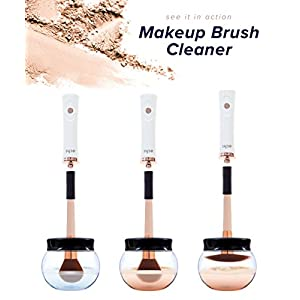 Makeup Brush Cleaner and Dryer Electric Spinner Machine Cleaning Tool echt NEW 2018 Model - Cleans and Dries Brushes in 30 Seconds - Great for Cleaning Brushes Quickly and Effectively