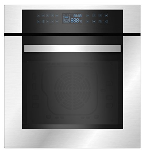 "Price comparison product image Empava 24"" Stainless Steel LED Control Panel Electric Built-in Single Wall Oven EMPV-24WOC02"