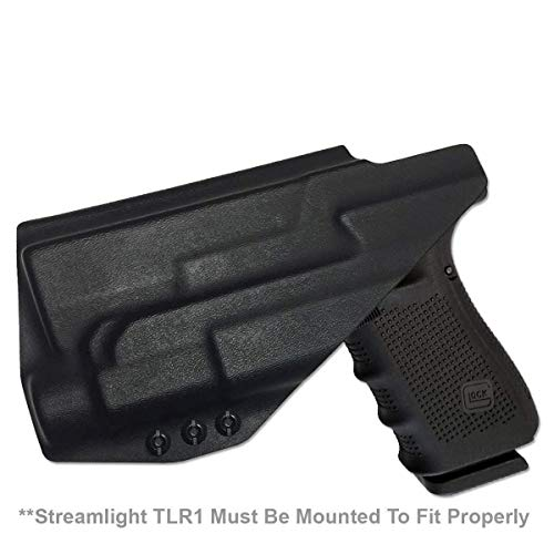 Elite Force Holsters: Light Bearing Holster for Glock 20, 21 with Streamlight TLR-1, Audible Click - Black, Right Hand