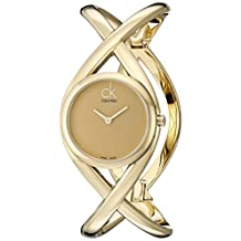 Calvin Klein Women's K2L23509 Enlace Analog Display Swiss Quartz Gold Watch