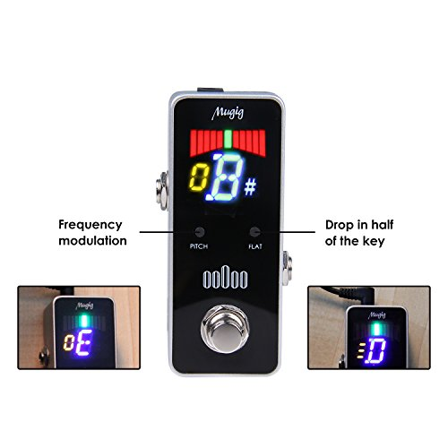 Tuner Pedal for Guitar and Bass - Mini - Chromatic - with Pitch Calibration and Flat Tuning by Mugig by Mugig (Image #3)'
