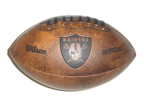 NFL Mini Leather Official Football NFL Team: Oakland Raiders
