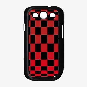 Checkerboard - TPU Rubber Silicone Phone Case Back Cover (Galaxy S3)