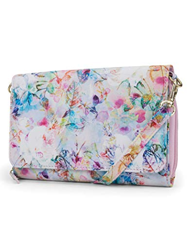 - Mundi RFID Crossbody Bag For Women Anti Theft Travel Purse Handbag Wallet Vegan Leather (Floral Mirage)