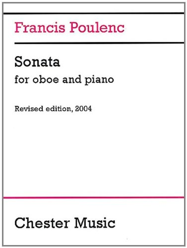 Sonata for Oboe and Piano: Revised edition, 2004