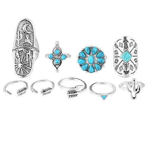 MJARTORIA Bohemian Turquoise Knuckle Varied