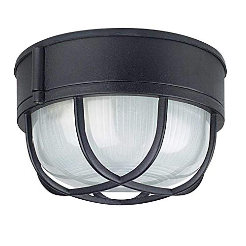 Sunset Lighting F7986-30 Outdoor Flush Mount with Frosted Prismatic Glass, White Finish 30 White Prismatic Glass