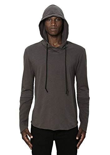 UNCOMMON THRDS Mens Thermal Cuff Hoodie Charcoal - Large by UNCOMMON THRDS