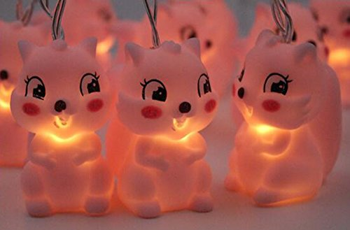 Dreamworth Squirrel String Lights,1.5M 10 Lights Cute Animal Shape LED String Lights Battery Powered for Halloween Christmas Thanksgiving Children Kids Bedroom Decoration by Dreamworth