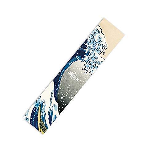 """Rayauto 47""""X10"""" Sport Outdoor Skateboard Longboard Dancing Board Penny Cruiser Board Waterproof Diamond Griptape Sheet Sticker Deck Sandpaper"""