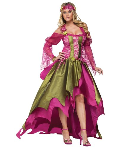 FunWorld Rennaisance Nymph, Pink/Green, Medium 8 -10 Costume