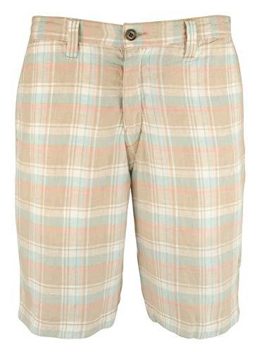 Tommy Bahama Men's Plaid De Leon Reversible 10-Inch Linen Shorts-SK-38