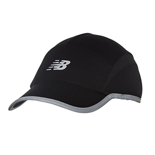 1 Fit New Hat Cap - New Balance 5 Panel Performance Hat, Black, One Size