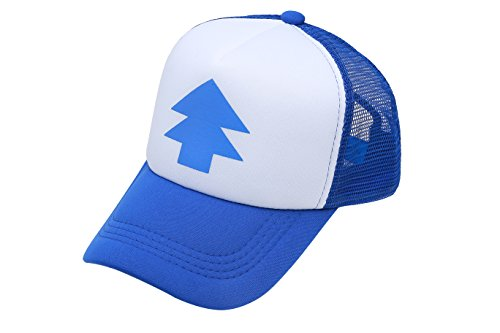 Dipper Gravity Falls Cartoon New Curved Bill Blue Pine Tree Hat Cap Trucker