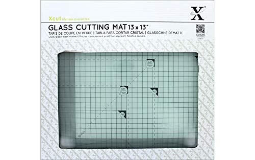 DOCrafts Xcut Tempered Glass Cutting Mat, 13-Inch by 13-Inch
