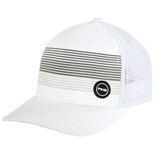 することになっている白い貼り直すPingフィットスポーツメッシュハット2018-ホワイトL / XL