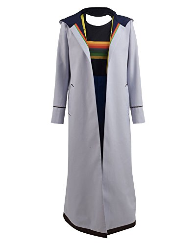 Who is Doctor Thirteenth 13th Dr. Cosplay Costume Beige Coat for Women (X-Large, Full Set 2)