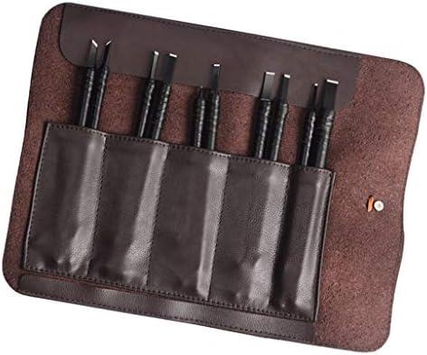 全4タイプ 彫刻ナイフ 木彫りナイフセットスチール レタリングツール - レザーバッグ付き10個