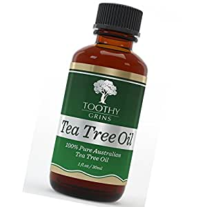 Tea Tree Oil ~ Pure 100% Australian - 1 Ounce (30 Ml) of High Quality Premium & Pure Essential Tea Tree Oil - The Best No Smear Label - With Guaranty By Toothy Grins (1)