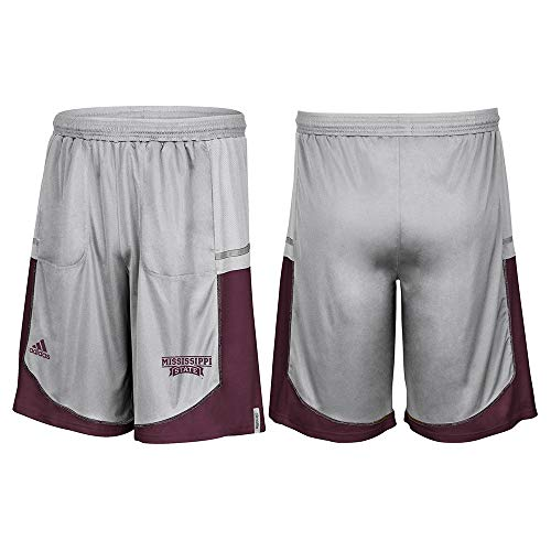 adidas Mississippi State Bulldogs NCAA Men's Grey Sideline Player Climalite ()