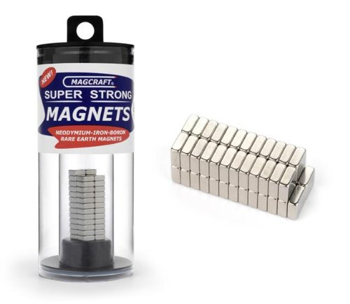 1/4''x1/4''x1/10'' Rare Earth Block Magnets (50) by MAGCRAFT RARE EARTH MAGNETS