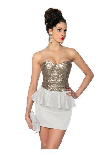 Bianco Angies Glamour Vestito Fashion Donna rIaaTCq