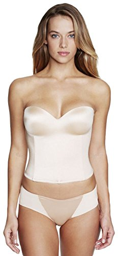 Dominique Molded Seamless Longline Bridal Bra Bridal Bustier Style 8541, Nude.